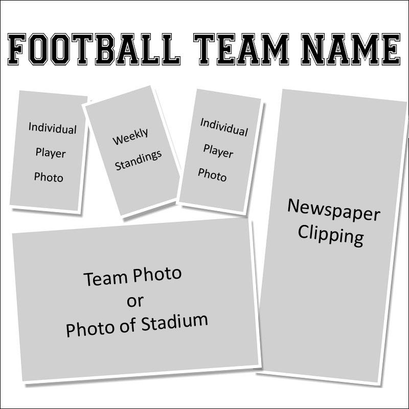 Creating a Pro Football Team Scrapbook