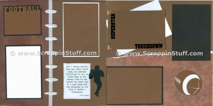 Create a Football Scrapbook for your favorite football player