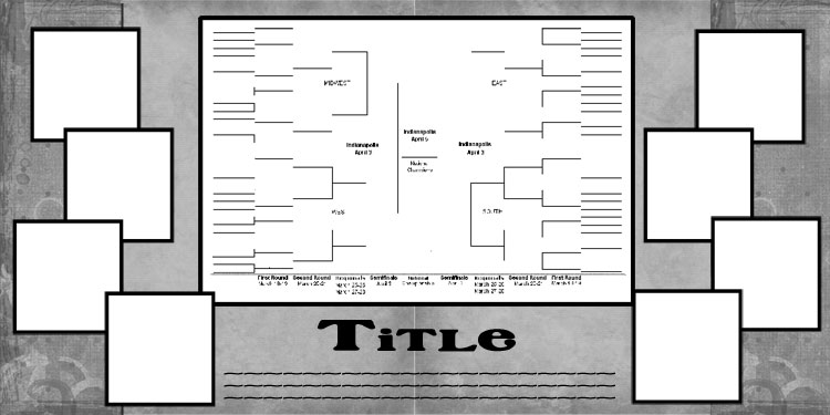 The Final 4 is fast approaching, can you Scrapbook about it?