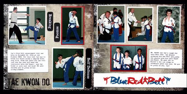 Red/Blue Belt Layout