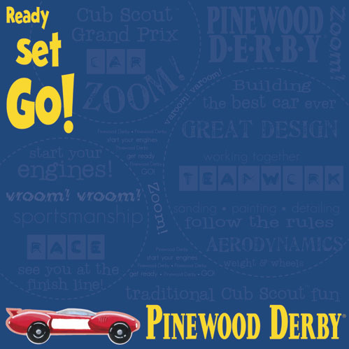Create a Scrapbook for your Son's Pinewood Derby Race