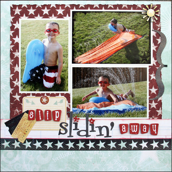 Slip Slidin' Away Layout