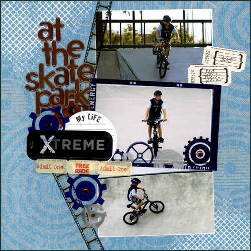 at the skate park layout