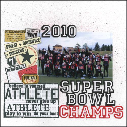 2010 Super Bowl Champs Layout