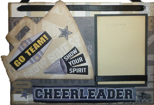 Cheerleader Photo Sign