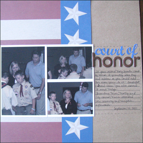 Court of Honor Layout