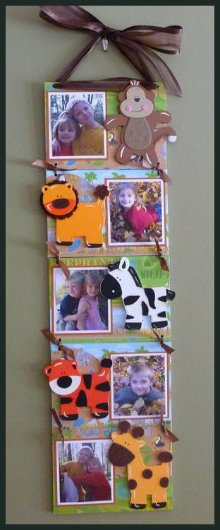 Zoo Animal Hanging Canvas Photo Display