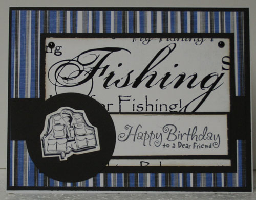 Fishing Card & Notepad
