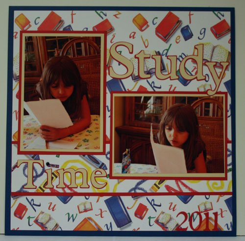 Study Time Layout