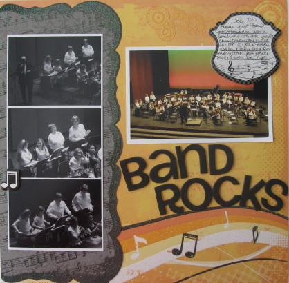 Band Rocks Layout