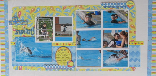 Hit the Water and Swim! Layout