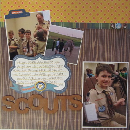 Adventures in Scouts Layout
