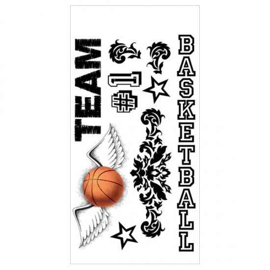 Adorn It - Basketball Clear Sticker