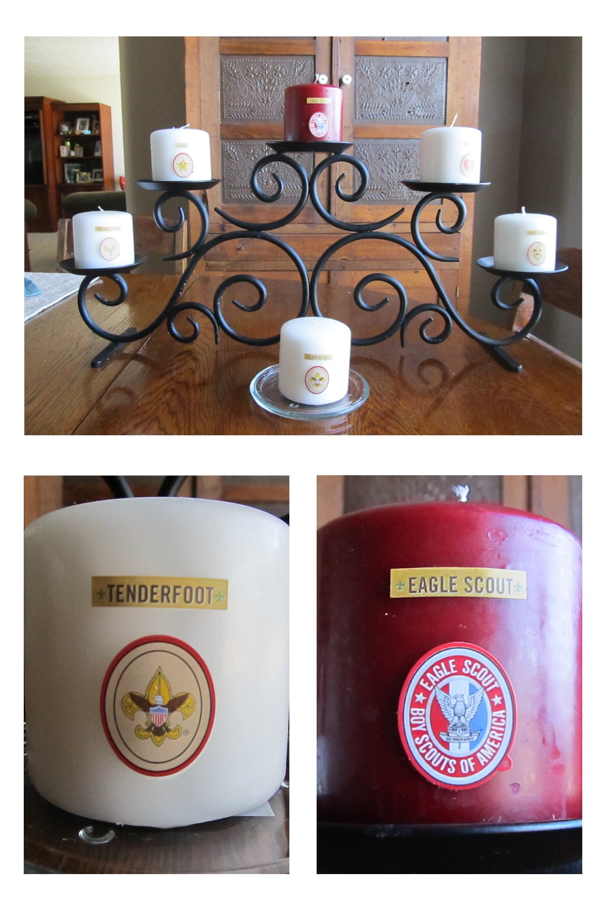 Boy Scout Candle Project