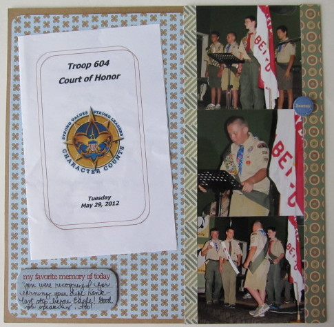 Troop 604 Court of Honor