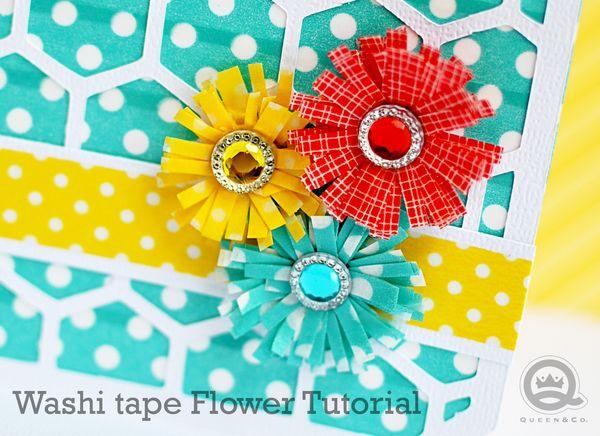 Washi Tape Fringe Flower Tutorial