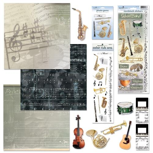 Creating a Scrapbook for Your Highschool Student in Band
