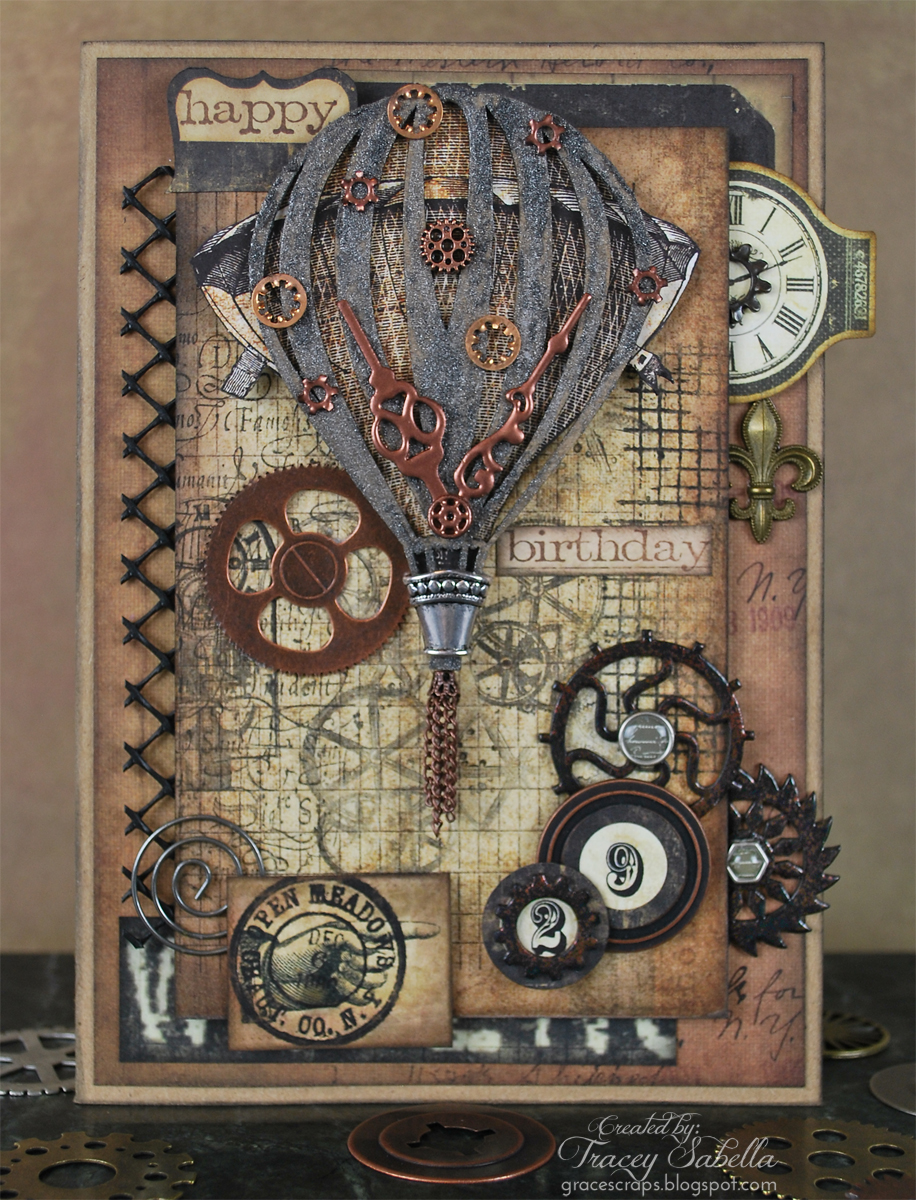 Grungy Steampunk Card by Tracey Sabella