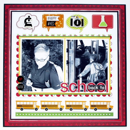Scrapbook Page | back to school