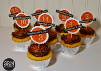 SRM Basketball Cupcake Toppers