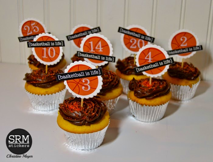 Basketball Cupcake Toppers