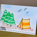 Happy Camper Pop Up Card
