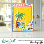 Add Texture and Interest to a Beach Party Card with SAND!!