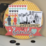 Forever Family Altered Embroidery Hoop