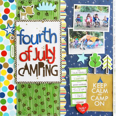 Step-By-Step Monthly Project Sheet: Campout Collection