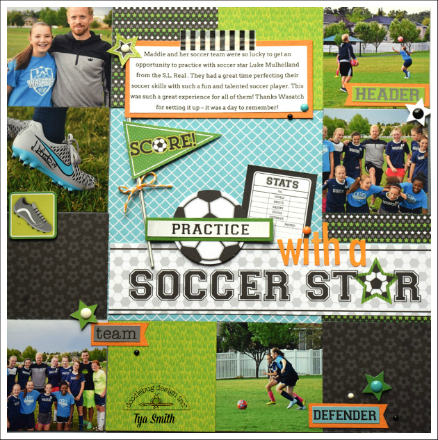 Goal Collection: Soccer Star Layout by Tya