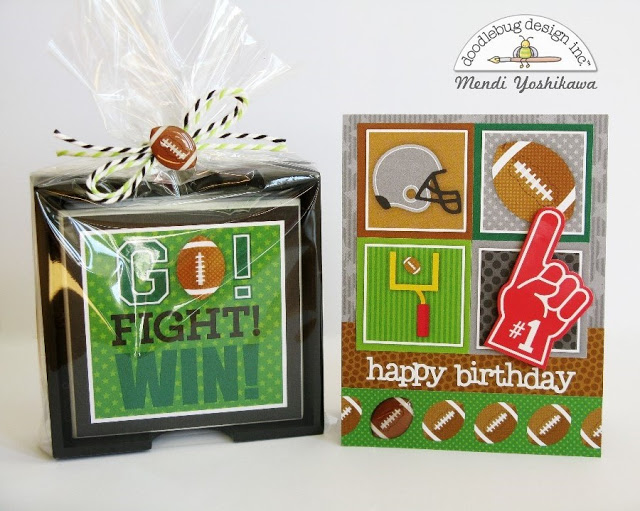 Touchdown Collection: Coaster Gift Set & Card by Mendi
