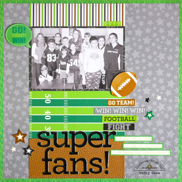 Touchdown Collection: Super Fans Layout by Kathy