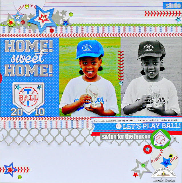 Home Run Collection: Home Sweet Home Layout by Jennifer Beason