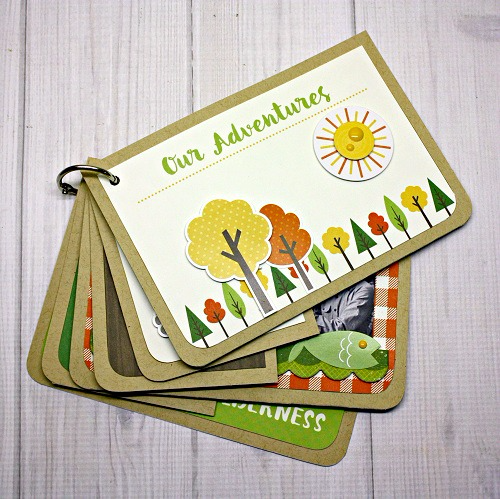 Summer Camp Journal Card Album