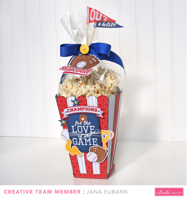 Baseball Popcorn Box