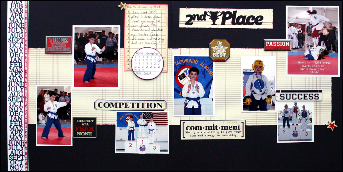 2nd Place Tae Kwon Do Layout