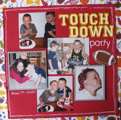 Touchdown Party Layout