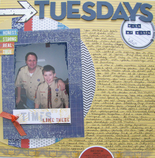 Tuesday's with Mr. Mitch Layout