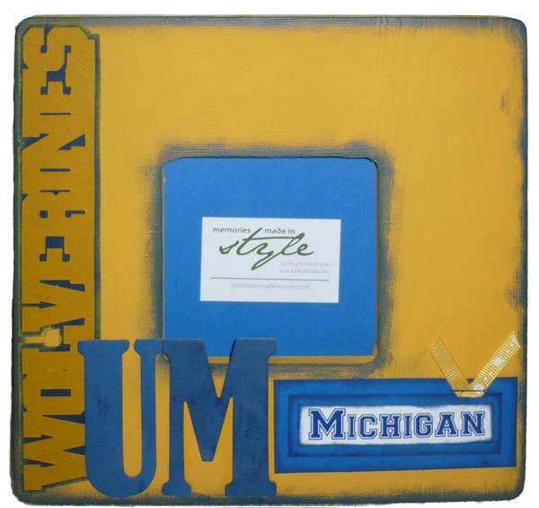 University of Michigan Wolverines Frame