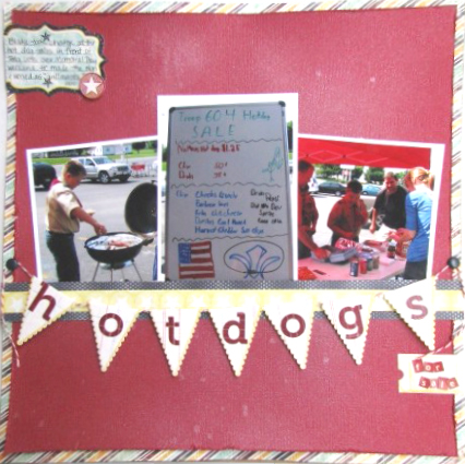 Hot Dogs for Sale Layout