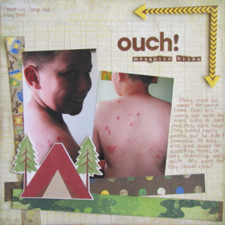 Ouch! Mosquito Bites Layout