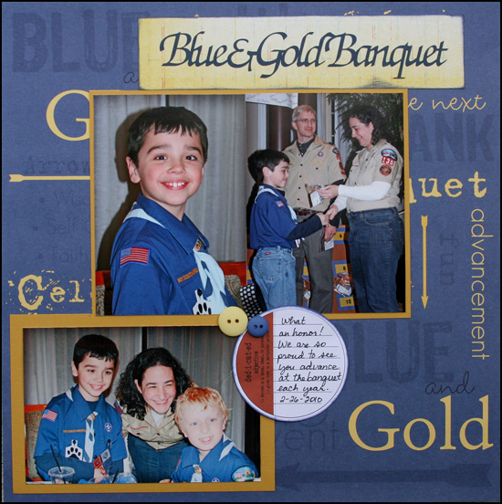 Blue and Gold Banquet Layout