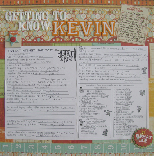 Getting to Know Kevin Layout