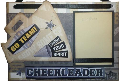 Cheerleader Photo Sign