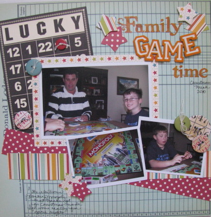 Family Game Time Layout