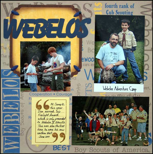 Webelos layout