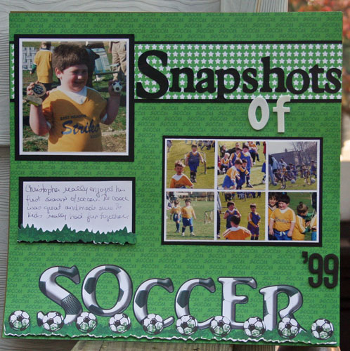 Snapshots of Soccer Layout