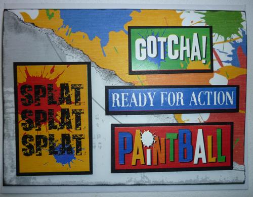 Paintball Birthday Card