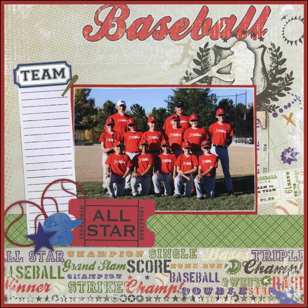 Baseball Team Layout