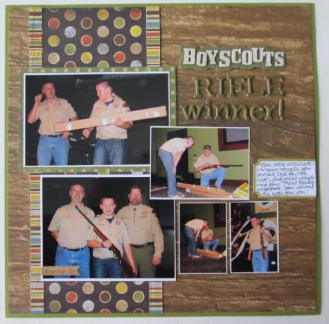Boy Scouts Rifle Winner!